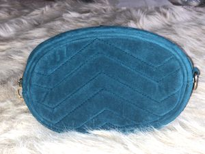 Quilted Velvet Waist & Crossbody Bag - Blue for Sale in Philadelphia, PA