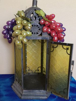 Metal and Glass lantern candle holder for Sale in Tampa, FL