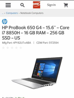 Hp probook laptop for Sale in Portland, OR