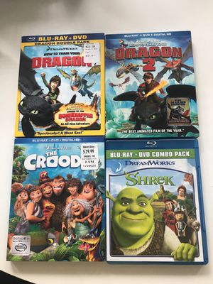 Collection of Dreamworks DVD + Blu Ray for Sale in Spring Hill, TN