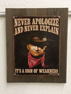 Vintage John Wayne Sign for Sale in Salt Lake City, UT