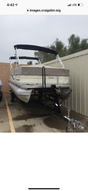 2007 sun tracker party barge 22 60hp motor for Sale in Chandler, AZ