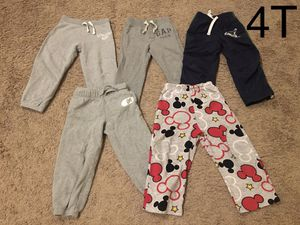 Boy clothes/sweat pants/ size 4t (still available) 5 items for Sale in Sumner, WA