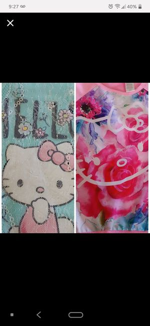 Hello kitty 2 shirts size 6/x6 girl for Sale in Peoria, AZ