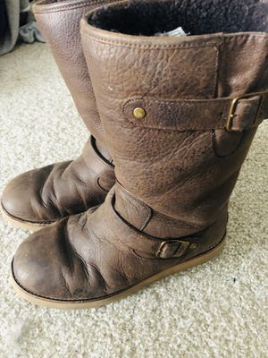 Leather UGG boots! Comfy and WARM for Sale in Denver, CO