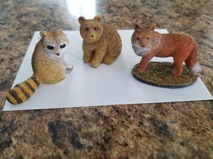 Animal Miniatures - Bear, Fox, Raccoon for Sale in St. Petersburg, FL