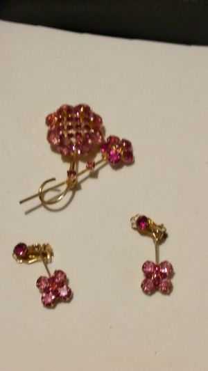 Broach with matching earrings not signed for Sale in Fort Worth, TX