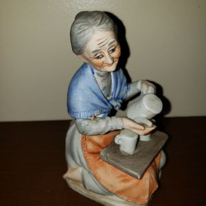 Old woman with her tray and tea set for Sale in Zanesville, OH