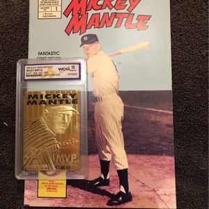 Mickey Mantle Comic And Baseball Card for Sale in Fenton, MO
