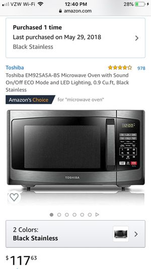 Toshiba Microwave for Sale in Seattle, WA