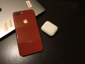 iPhone 8 Plus Red 256G + AirPods +Apple Watch and Free Google Pixel for Sale in Queens, NY