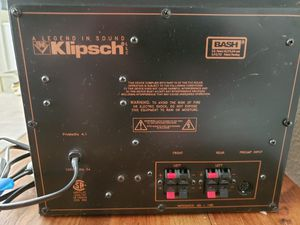 Klipsch Promedia 4.1 - Subwoofer & 4 speakers for Sale in Tracy, CA