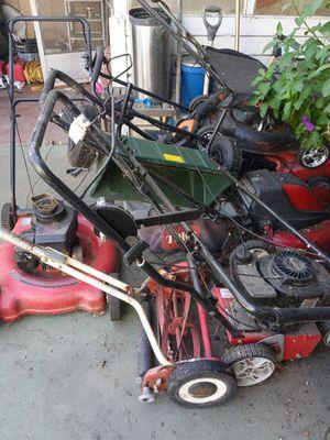 Lawn mowers n spredder n push mower for Sale in Stockton, CA