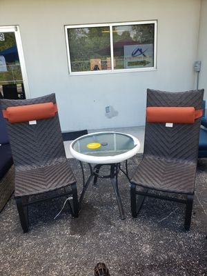 Set of two dining patio chairs with bistro tabel for Sale in Lutz, FL