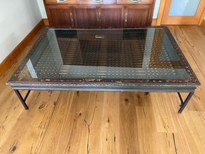 Antique Custom Glass Table from India for Sale in Los Angeles, CA