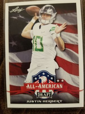 Justin herbert Leaf All-American Rookie #63 for Sale in Whittier, CA