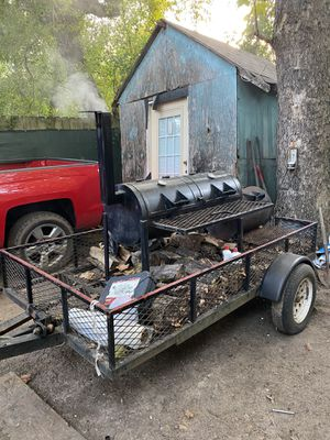 BBQ pit on trailer with jack for Sale in Houston, TX