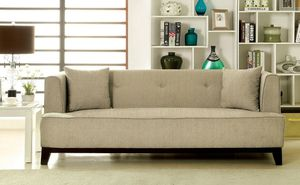 Beige transitional style sofa couch/No Credit Needed No Credit Check Apply Today for Sale in Downey, CA