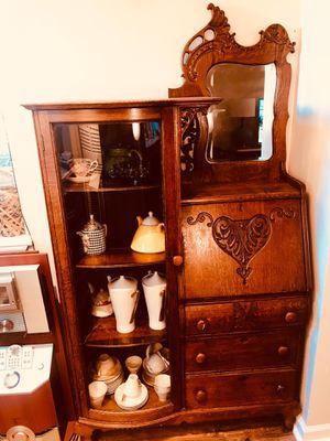 Larkin ANTIQUE Oak Secretary Desk/ Curio/ Bookcase Side x Side (moving out of state) for Sale in Odenton, MD