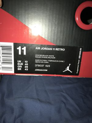 Air Jordan Retro 11 Gym Red Size 11 for Sale in St. Louis, MO