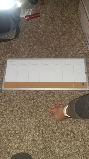 Dry erase weekly calendar for Sale in Port Angeles, WA
