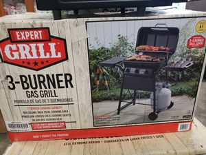 Black 3-Burner Gas Grill 30,000 BTU W/ 2-Side Shelve Outdoor BBQ Cooking Grill for Sale in Casselberry, FL