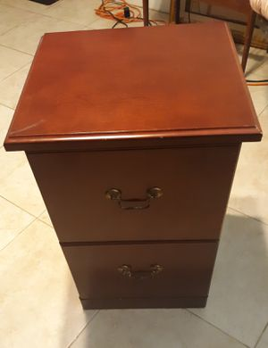 Cherry wood filing cabinet two drawers like new for Sale in Clearwater, FL