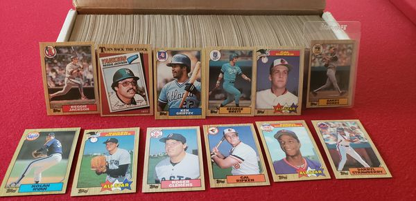 Includes barry bonds error rookie card 1987 tops baseball card collection 792 cards all mint condition