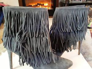 New size 11 fringed ankle boots for Sale in Tacoma, WA
