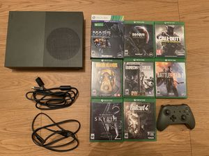 Xbox One S (1 TB) Limited Edition Battlefield Green + 8 Games for Sale in Warwick, RI
