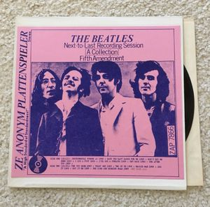 """The Beatles """"Next-To-Last Recording Session-Fifth Amendment"""" vinyl lp Ze Anonym Plattenspieler ZAP 7866 rare like new copy for Sale in Placerville, CA"""