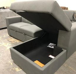 🚛SAMEDAY DELIVERY 🚚Salado Gray Sleeper Sectional with Storage for Sale in Beltsville,  MD