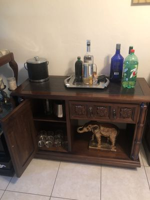 Granite top bar/ buffet table for Sale in Fort Lauderdale, FL