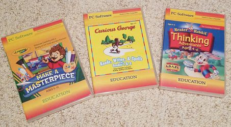 3 Children's educational PC software for Sale in Plain City,  OH