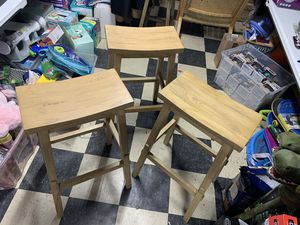 Gently used Wooden Bar stools for Sale in Houston, TX