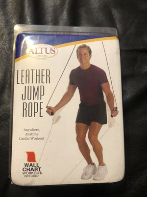Learher jump rope by ALTUS athletic New for Sale in Whittier, CA