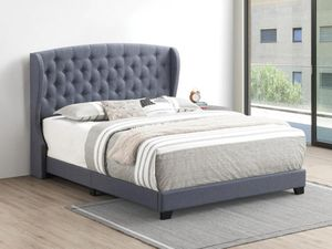 Queen bed frame with headboard and mattress and box spring including 400$ everything complete bed delivery available brand new for Sale in Chicago, IL