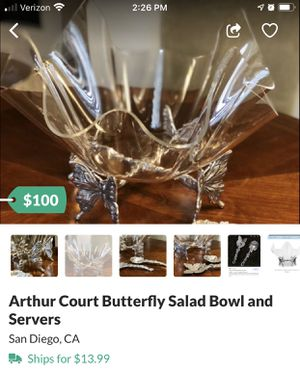 Arthur Court Butterfly Collection - Excellent Condition for Sale in San Diego, CA