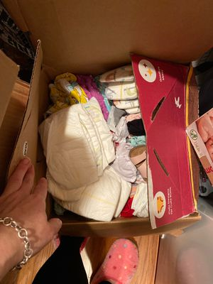 0-3 months clothes,shoes, diapers for Sale in Deptford Township, NJ