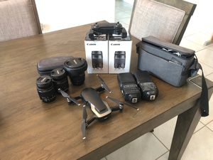 Photography bundle! Drone, lenses and more for Sale in Sun City West, AZ