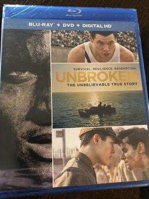 Unbroken Blu-Ray + Digital Copy + DVD for Sale in Seattle, WA