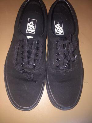 368926cb881df Adult vans black on black sneakers men 9.5 women 11 for Sale in Richmond