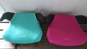 Blue\pink Cosco booster / car seats for Sale in Dallas, TX