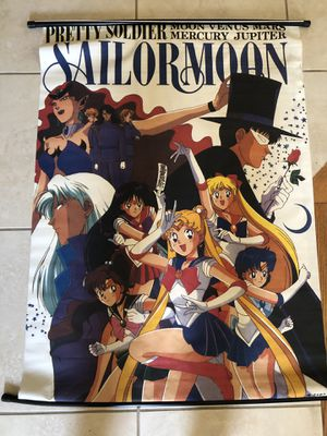 Vintage sailor moon poster/scroll for Sale in Buena Park, CA