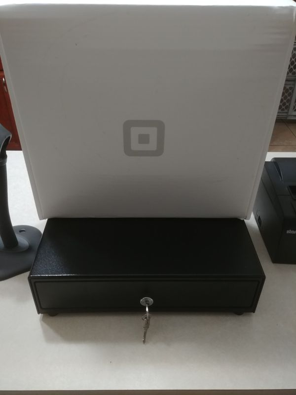 Complete Square POS Hardware Setup (Drawer, Stand, Contactless & Chip Reader, Printer Barcode Scanner) LIKE NEW