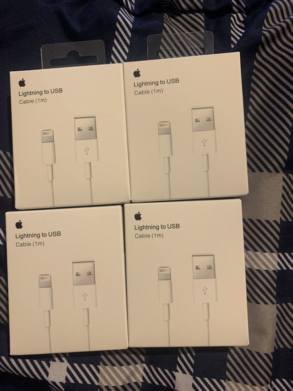 4 Original 1m Lightning Chargers for 20$ Blowout Sale