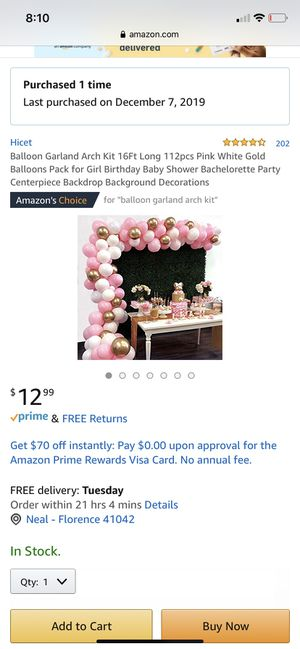 Balloon arch kit never used $7 for Sale in Florence, KY