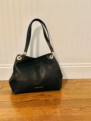 "Michael Kors ""Raven"" black leather shoulder purse for Sale in Marlboro Township, NJ"