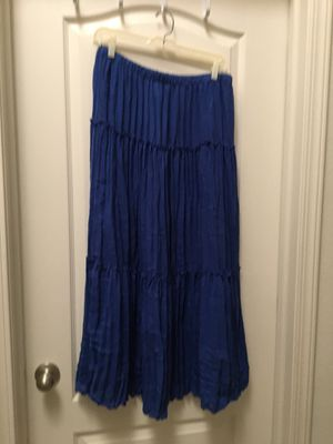 Dress with navy blue, medium size, long 36 inches.55% rayon,45 % polyester for Sale in Fresno, CA