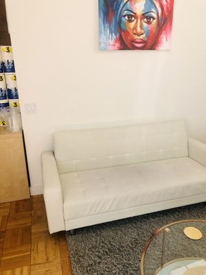 Wayfair White Faux Leather Couch for Sale for Sale in New York, NY